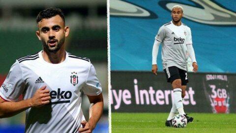 Beşiktaş'a Ghezzal ve Wellinton'dan kötü haber