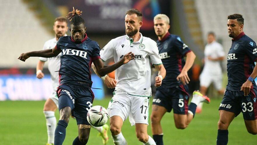 Konyaspor-Trabzonspor maçı nefes kesti! Dört gollü muhteşem maç…