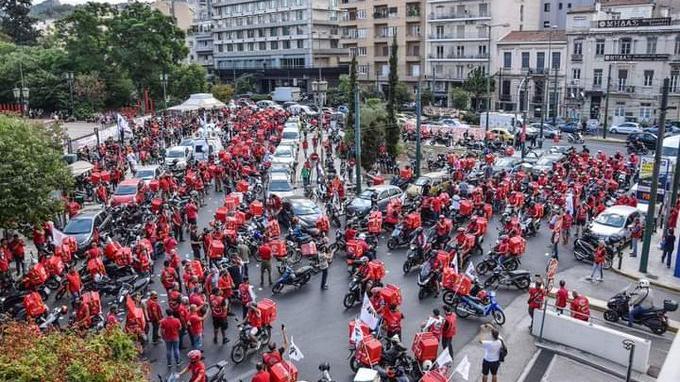 Yunanistan'da yemek teslimatçıları greve gidiyor