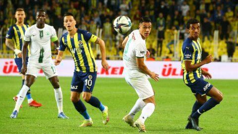 Fenerbahçe-Giresunspor maçında altın üç puan