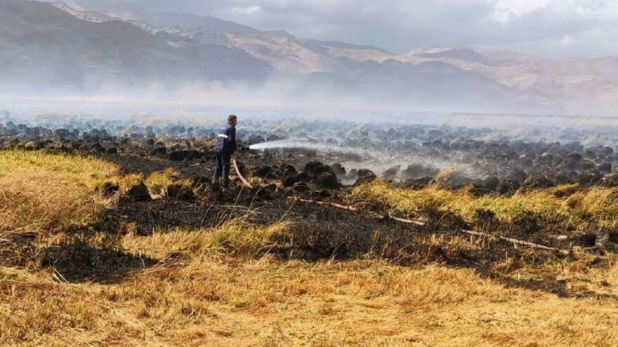 Kuş cennetindeki yangını söndürme çalışmaları devam ediyor