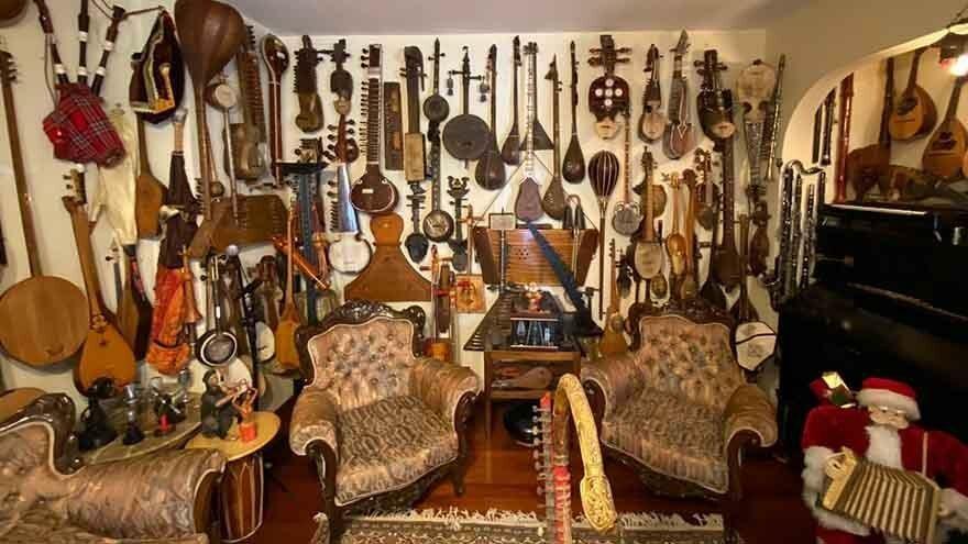 Dünyanın müzik aleti bir evde