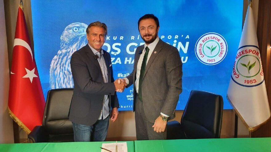 Çaykur Rizespor yeni teknik direktörünü açıkladı: Hamza Hamzaoğlu