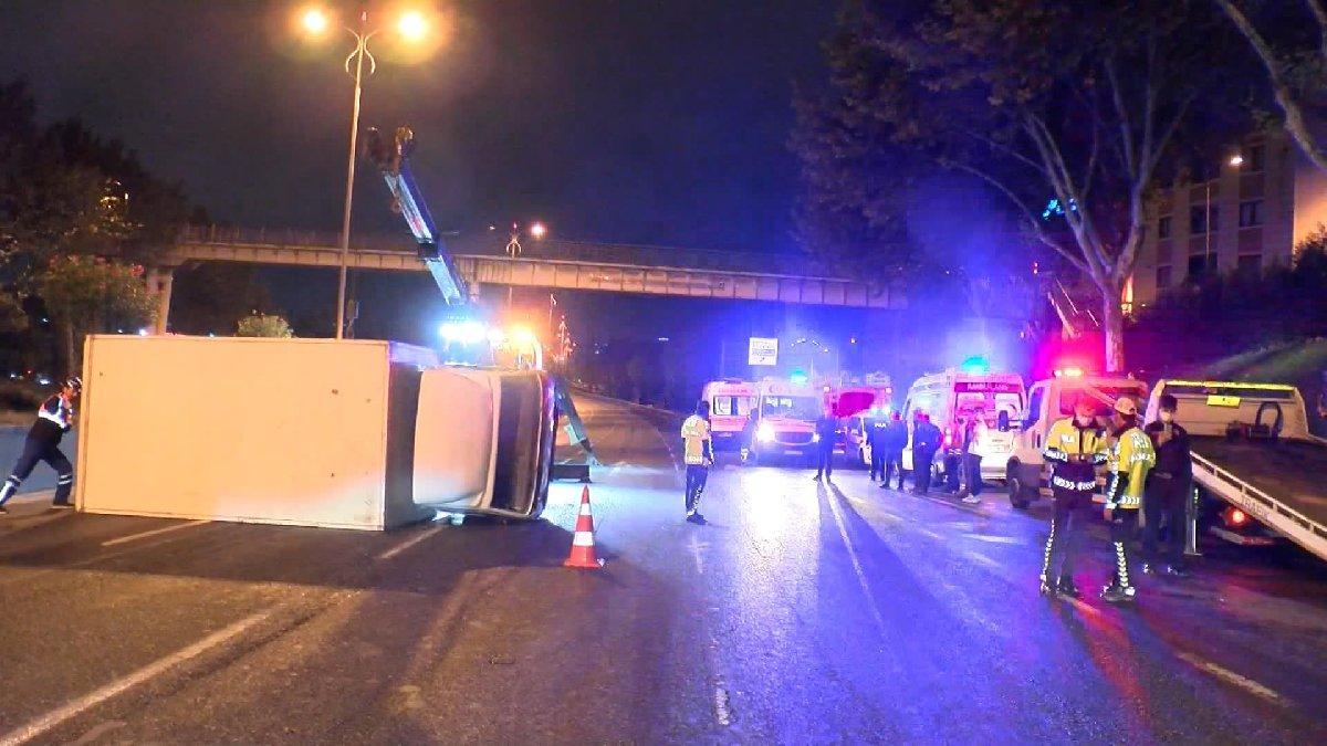 Esenlerde zincirleme trafik kazası; 5 yaralı