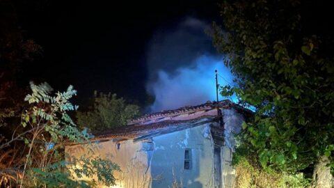 Tekirdağ'da çıkan yangında 2 ev kullanılamaz hale geldi