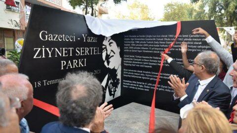 Ziynet Sertel'in adı, doğup büyüdüğü Bornova Çamdibi'ndeki parka verildi