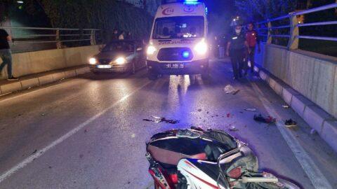 Adana'da baba ile oğlunu ayıran kaza