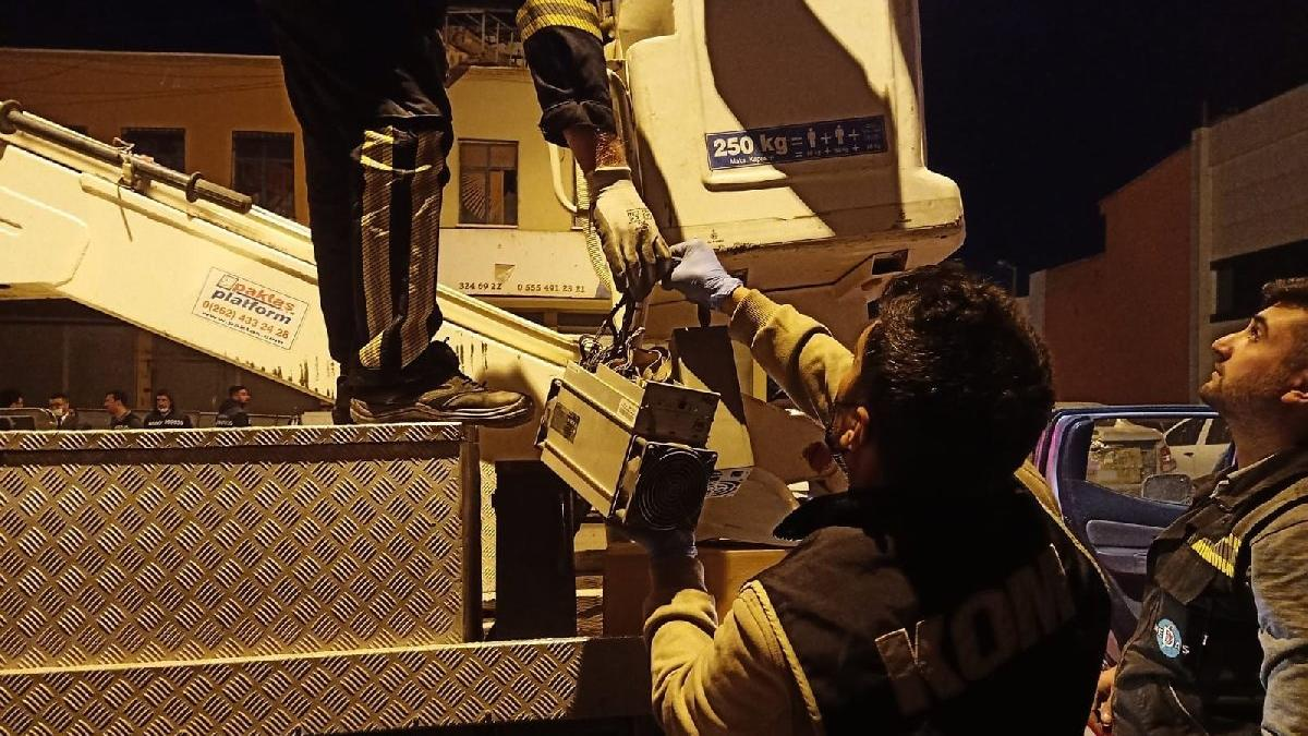Konyada kripto para madenciliği operasyonu