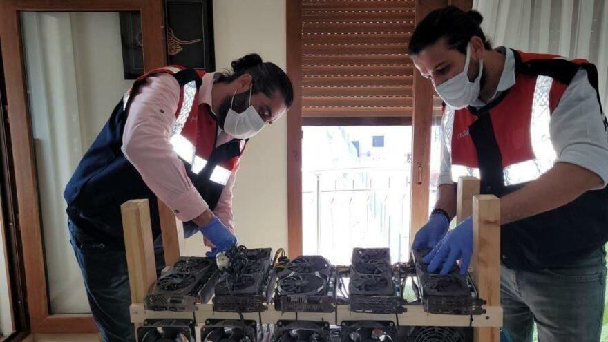 İzmir'de kripto para üretim makinesi operasyonu