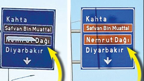 Nemrut Dağı yazısı yol tabelalarına dönüyor
