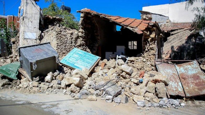 Girit depreminde hasarın boyutu büyüyor