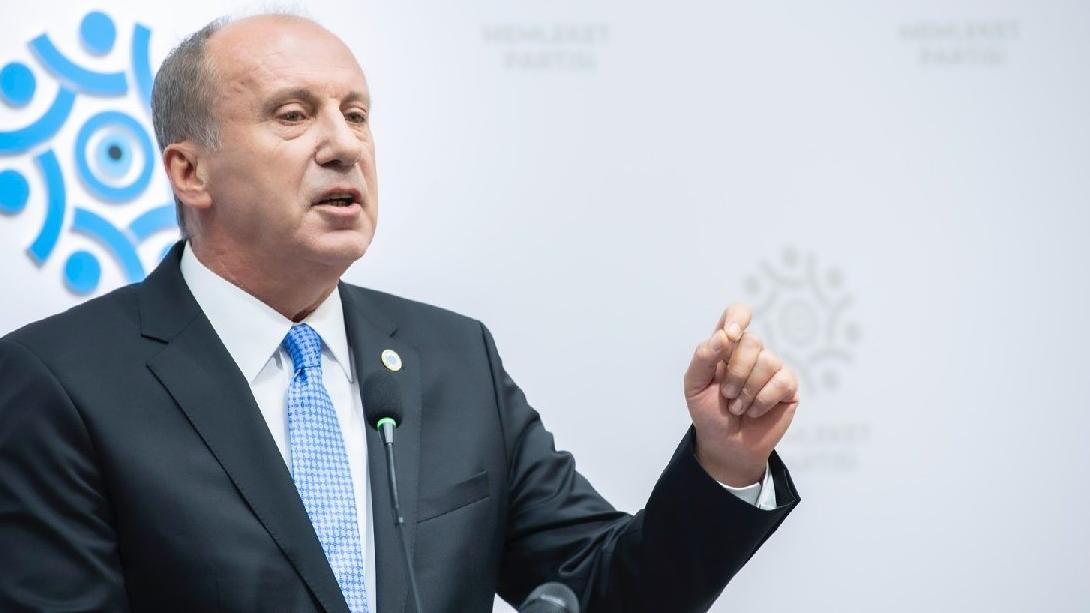 İnce: Türkiye'nin geleceğini mahveden bugünün hakimleri ve savcılarıdır