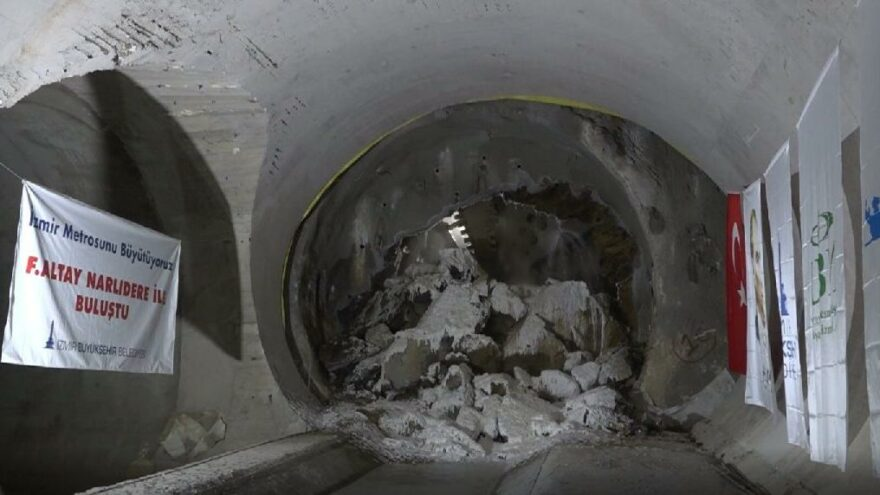 Narlıdere Metrosu'nda 14,5 kilometrelik tünel inşaatı tamamlandı