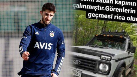 Fenerbahçeli futbolcunun arabası evinin önünden çalındı