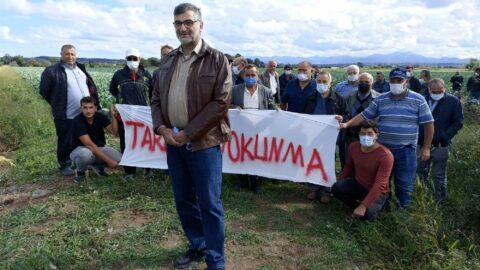Samsun'da tarım arazisine yapılacak hal projesine tepki