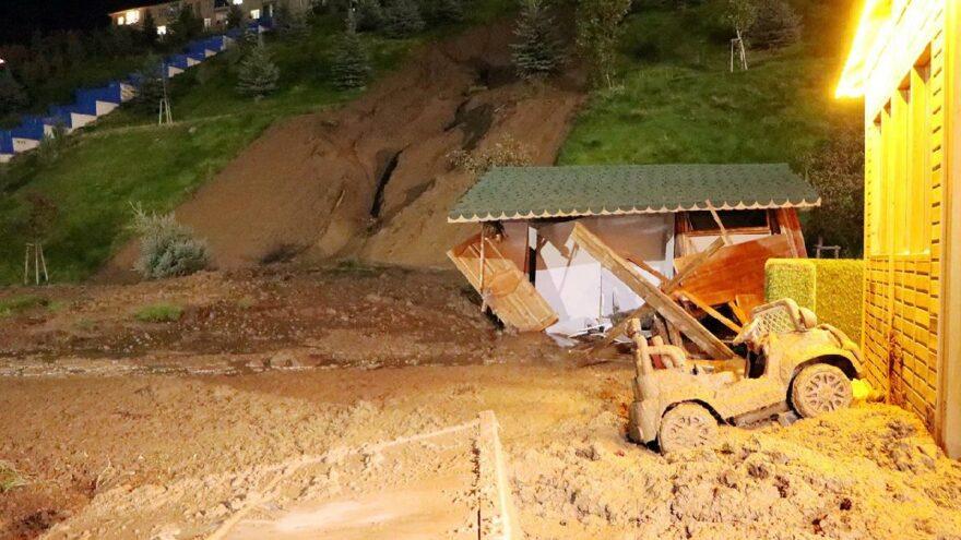 AKP'li belediyenin yaptığı vadide toprak kayması