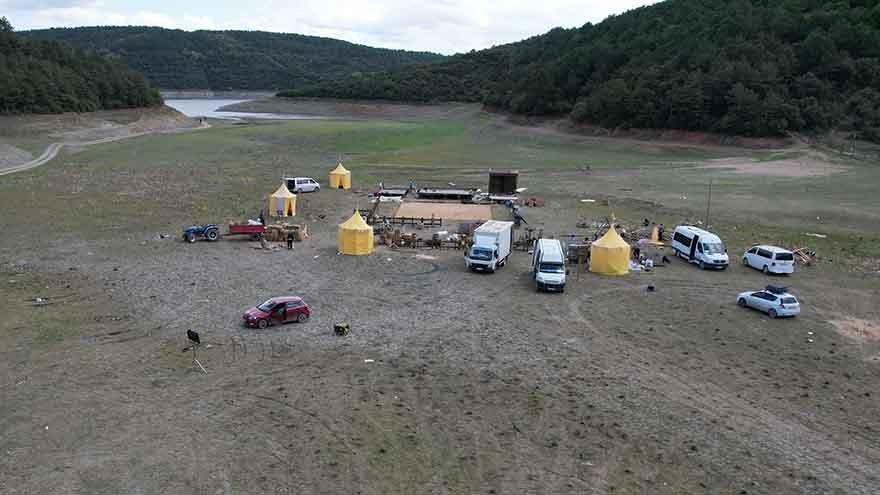 Alibeyköy Barajı film seti oldu