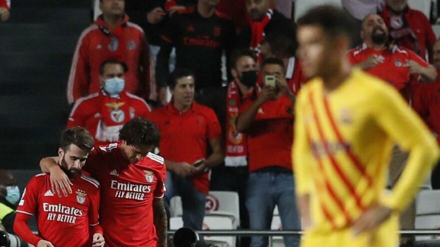 Barcelona, Benfica deplasmanında dibe vurdu: 3-0
