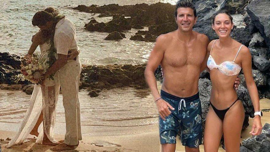 Bora Kozanoğlu ile Simay Arpacı Hawaii'de evlendi