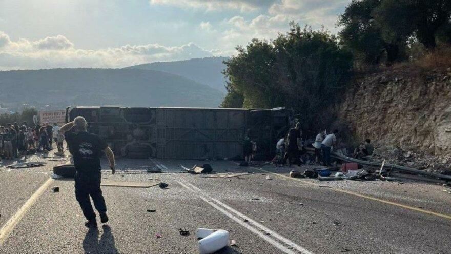 İsrail'de otobüs devrildi: En az 5 ölü, 47 yaralı