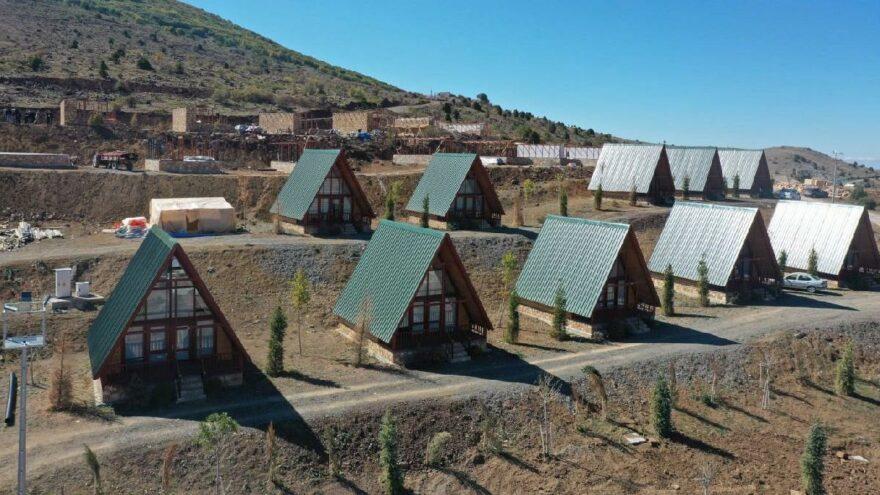 Yıldız Dağı Turizm Merkezi'neyeni bungalovlar yapılıyor