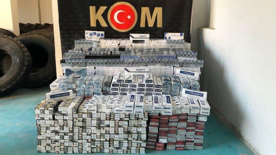 Siirt'te 11 bin paket kaçak sigara ele geçirildi