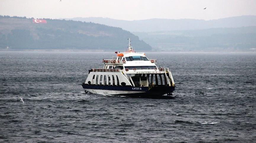 Gökçeada'ya yarınki tüm feribot seferleri iptal edildi
