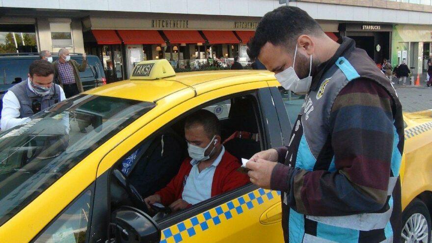 Taksim'de müşteri seçtiği için ceza yiyen taksiciden polise tepki