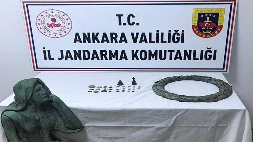 Ankara'da 31 adet tarihi eser ele geçirildi