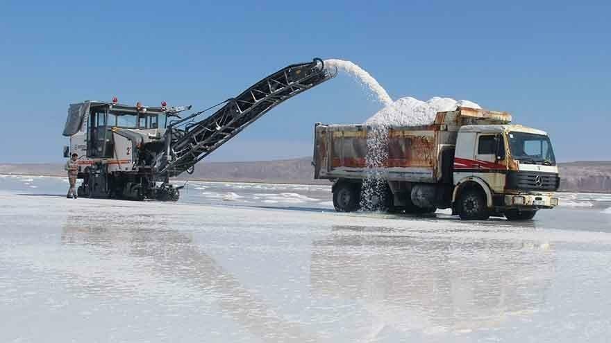 Tuz Gölü'nde hasat zamanı