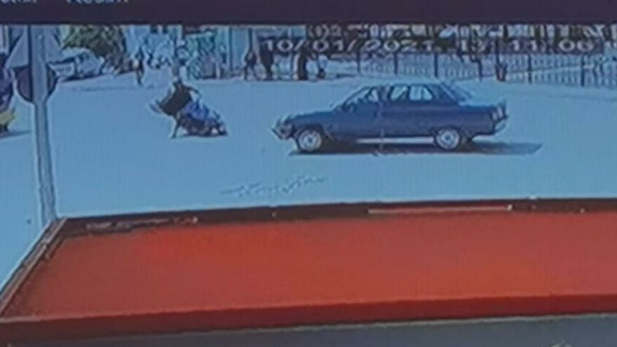Motosiklet ile çarpışan kadın sürücü önce kaçtı, sonra geri geldi