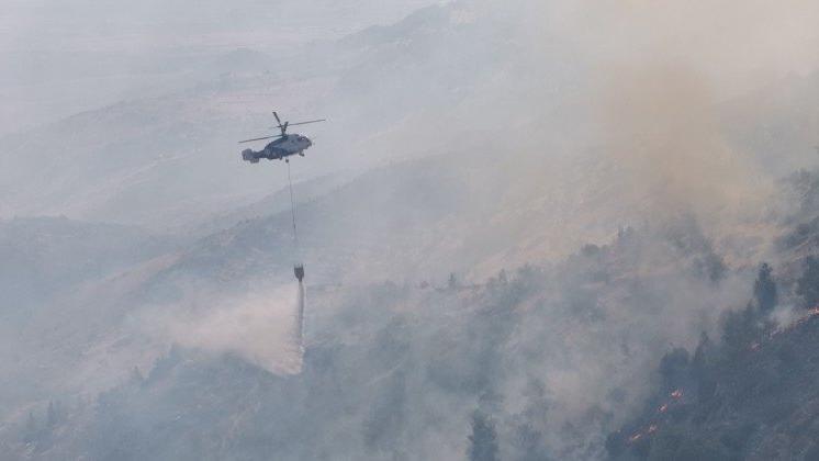 KKTC'deki orman yangını kontrol altına alındı
