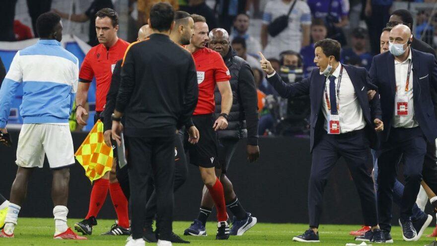 Marsilya Başkanı Pablo Longoria'dan tehdit! Maç bitti sahaya daldı…