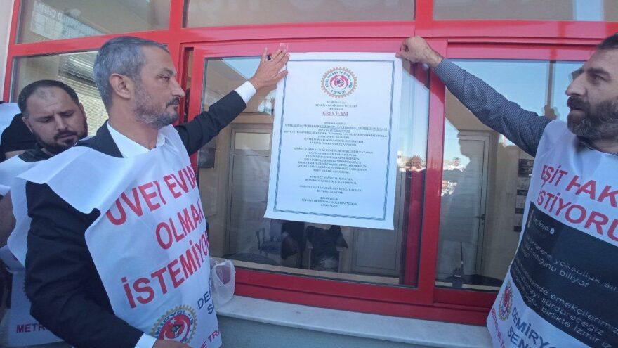 İzmir Metro'ya grev kararı asıldı