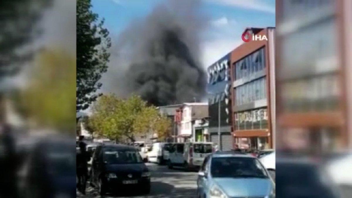 Bursa'da tekstil atölyesinde korkutan yangın