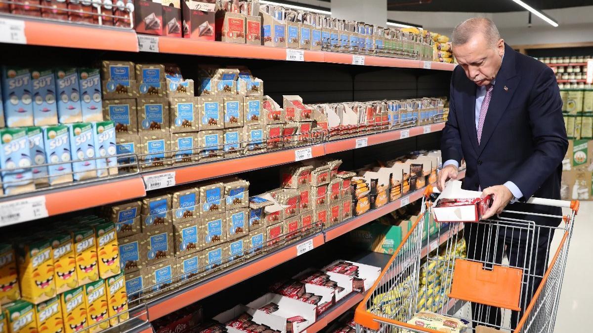Erdoğan yine aynı markete gitti: Fiyatlar gayet uygun