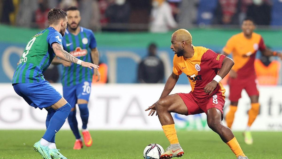Çaykur Rizespor ile Galatasaray'ın mücadelesi nefesleri kesti