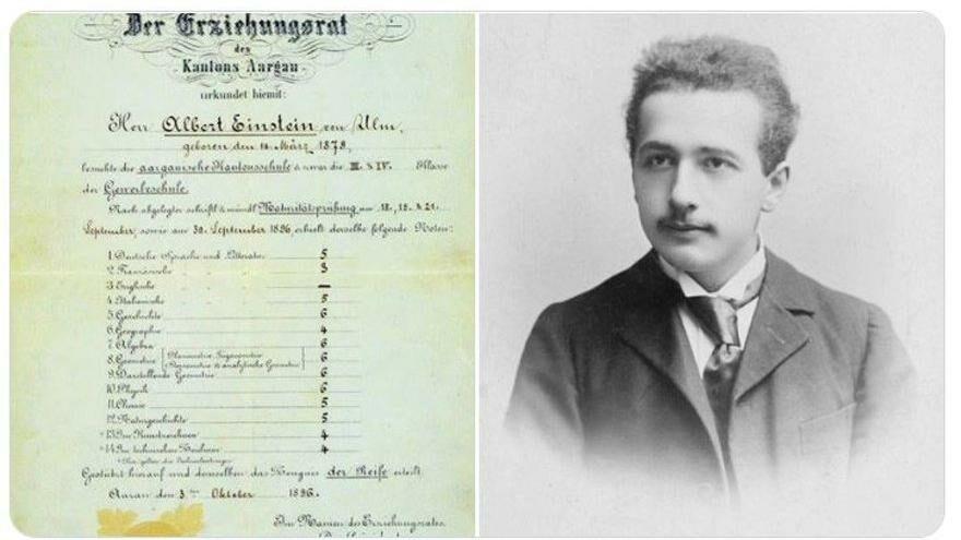 Nobel, Einstein'ın karnesini paylaştı