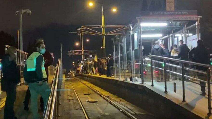 Tramvayda arıza, durak kapatıldı