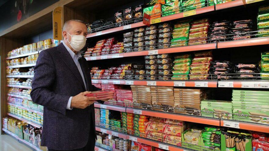 Erdoğan'dan atıştırmalık alışverişine 1002 lira