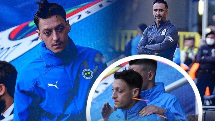 Fenerbahçe'de Mesut Özil oyuna alınmayınca Pereira'ya şok bir tepki gösterdi