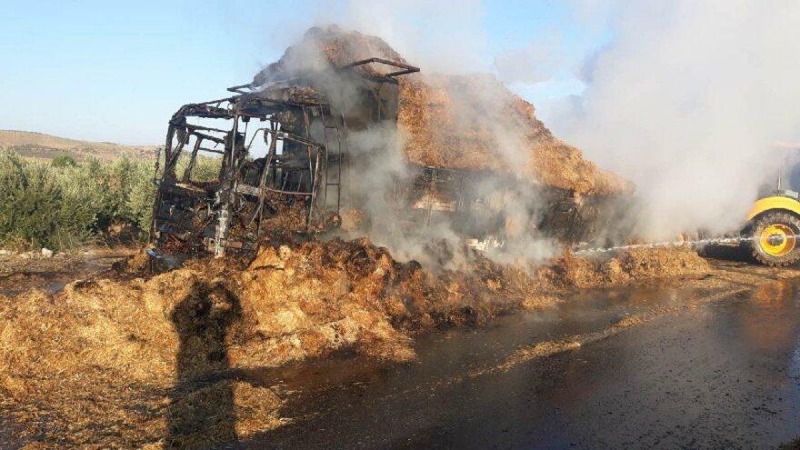 Kamyonetteki yolcu yanarak öldü