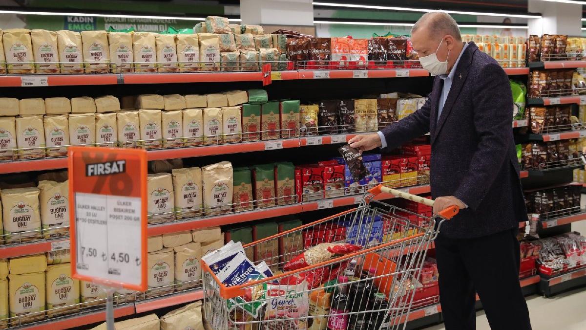 Erdoğan'ın market alışverişi ve hayat pahalılığı yabancı basının manşetinde