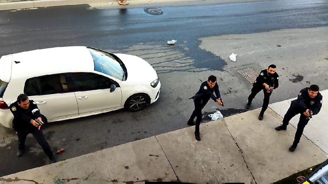 Baltalı silahlı kavgaya polis müdahalesi