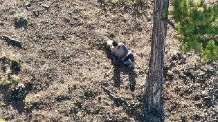 Kayıp yaşlı adam drone ile bulundu