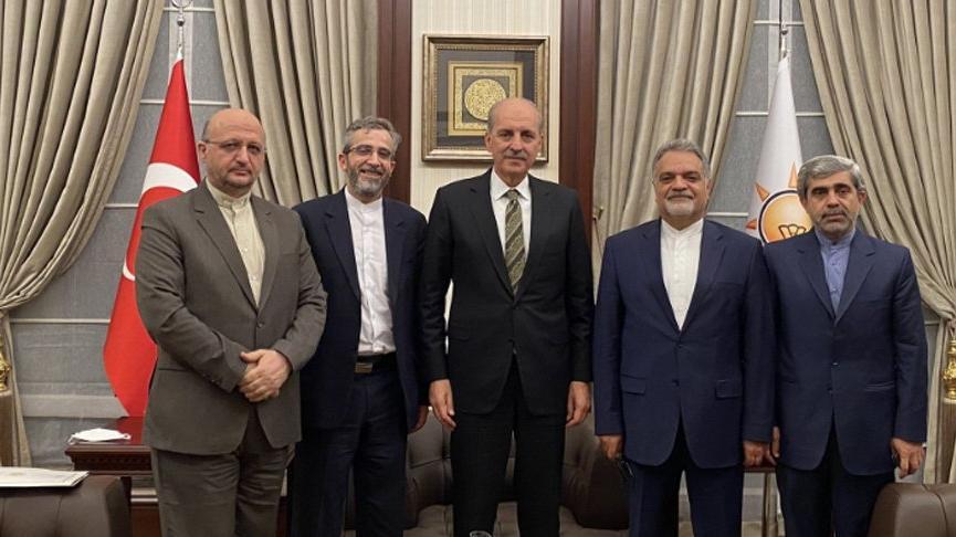 AKP'li Kurtulmuş, İran Dışişleri Bakan Yardımcısı Kani ile görüştü