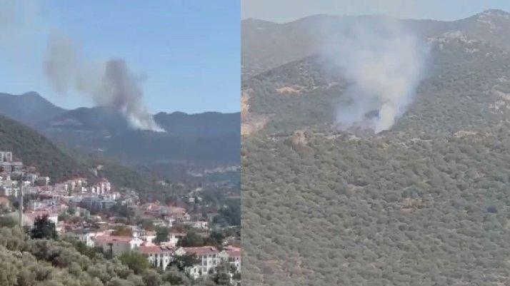 Antalya Kaş'ta korkutan yangın