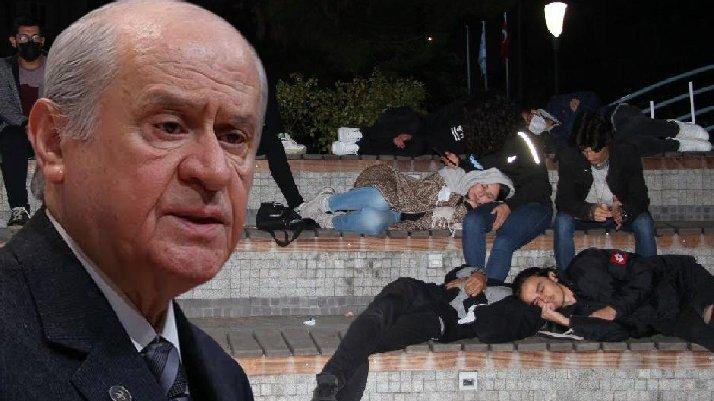 Devlet Bahçeli'den yurt eylemlerine tepki: Ajan provokatörler