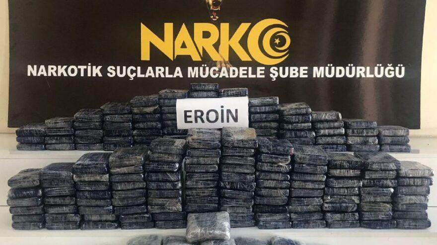TIR'ın yakıt deposunda 87 kilo eroin ele geçirildi