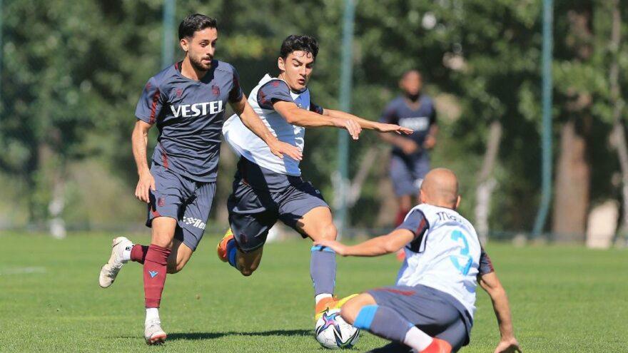 Trabzonspor, U19 takımıyla antrenman maçı oynadı
